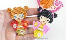 Tuto Brick Stitch spécial débutants : Petite poupée kokeshi à couettes