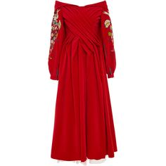 Yuliya Magdych     Paradise Apples Velvet Calf Length Dress (17.930 CZK) ❤ liked on Polyvore featuring dresses, red, red velvet dress, calf length dresses, red pleated dress, midi dresses and velvet midi dress