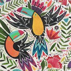 Maya Hanisch Art And Illustration, Cat Illustrations, Watercolor Illustration, Fabric Painting, Painting & Drawing, Painting Tips, Motifs Textiles, Posca Art, Guache