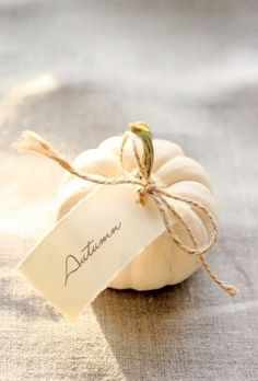 Pumpkin place setting...Our Thanksgiving table is going to be so stinking cute! X10