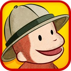 FREE app for kids (limited time only!): Curious George at the Zoo for iPad - one interactive safari scene featuring 5 animals and one minigame. Curious George Party, Curious George Birthday, Teaching Kids, Kids Learning, App Of The Day, In The Zoo, The Lorax, Books For Teens, Zoo Animals