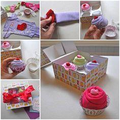 DIY Cupcake Onesies Baby Gift 1