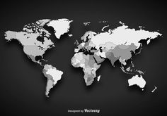 If you're looking at including a world map vector is just the thing. A world map vector is a great addition to any tourist site. Gothic Wallpaper, Map Wallpaper, Free Vector Illustration, Vector Art, World Map Vector Free, Flat World Map, East Asia Map, World Globe Map, World Map Design