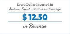 Love these Voter Resources by US Travel!  Every Dollar Invested in Business Travel Returns an Average $ 12.50 in Revenue.