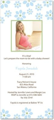 cheap baby shower invitations for girls   ... Baby Shower Invitations » Petite Flowers: Mermaid Cheap Picture Baby