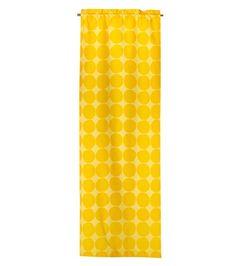 Pienet Kivet -verhot, 2 kpl, keltainen
