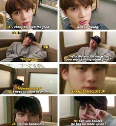 Jun look being cute towards Jin #Cute #FunnyKpop