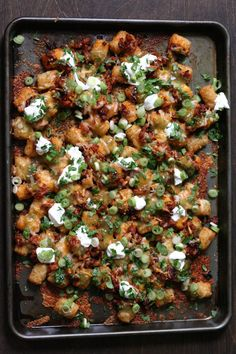 Tater Tot Nachos. Get the recipe via @PureWow