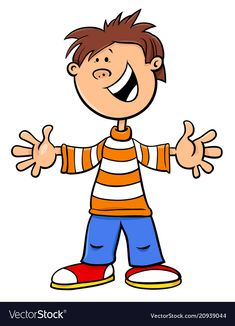 Funny kid boy character cartoon vector image on VectorStock Clipart Gallery, Boy Character, Cartoon Characters, Fictional Characters, Smileys, Funny Kids, Kids Boys, Elementary Schools, Adobe Illustrator
