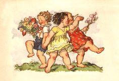 Children dancing, holding hands and flowers, Srdecne - bidStart (item 38328924 in Postcards. The Kingdom Of God, Believe In God, Auction Items, Vintage Postcards, Vintage Children, Illustrators, Art For Kids, Children Dancing, Dance