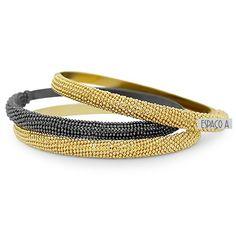 Pulseira Aless Diamantada Estilo Italiana Semi Joia Folheada Ouro Ou Ródio Negro (K-BL0049)