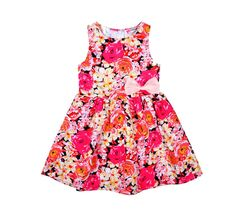 girl party dress Abstract Flower Dress fashion baby girls dress Butterfly new designer kids dress vetement enfant fille robe