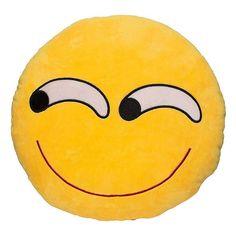 Rolling Eyes Smiley Emoji Pillow