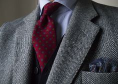 I need more ties Mens Fashion Suits, Mens Suits, Men's Fashion, Well Dressed Men, Get Dressed, Savile Row, Shirt And Tie Combinations, Classic Men, Tie And Pocket Square