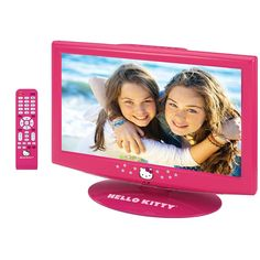 Hello Kitty 19 Inch LCD TV with Remote KT2219 . Rare discontinued television.