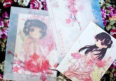All things pretty and cute: WWW.NOVAMELINA.COM International shipping!!  #cute #kawaii #japanese #postcard #anime #cartoon #colorful #art #painting #shop #finland #helsinki