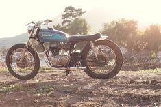 A lovely, bare-bones Honda CB360 shot by Scott Toepfer for Iron & Resin.