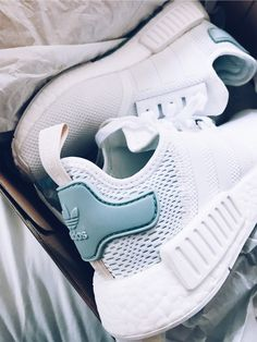 f6e37d5dd813 Pinterest   Beachbeauty18 White adidas running shoes with matte teal back Sock  Shoes