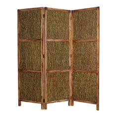 Screen Gems Knotted Fern Panel Room Divider in Wooden Frame - 63W x 72H in. - SG-90