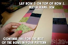 Bargello Placemat Quilt Along – Part 2 – Cutting your tubes, using your seam ripper and sewing rows back together