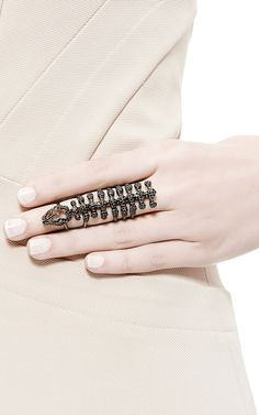 Blackened Gold Skeleton Ring by Runa for Preorder on Moda Operandi