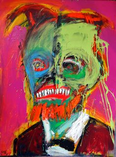 """""""Green Lincoln"""" 2013 painting by Matt Sesow the latest at http://new.sesow.com"""