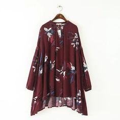 Vintage Boho Long-Sleeve Tunic Dress (2 Colors)