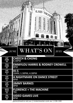 Palais Theatre What's On in June & July, 2015
