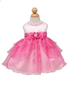 KID Collection Baby Girls Ruffle Tiered Dress 12M Med Pink Fuchsia Kid B802. Check website for more description.