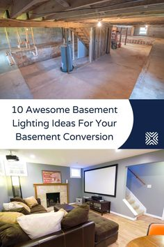 It can be hard to keep a well-lit basement, but if you're planning to renovate your basement and turn it into a home office, an in-law suite, or extra living space, we've brought you 10 awesome basement lighting ideas, to help you light up your basement. Bathroom Recessed Lighting, Installing Recessed Lighting, Basement Lighting, Backyard Lighting, Kitchen Lighting Fixtures, Dining Room Lighting, Bedroom Lighting, Interior Door Installation, Farmhouse Lighting