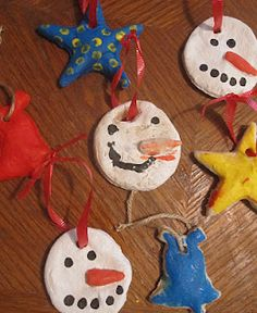 Salt dough ornaments, for the kids