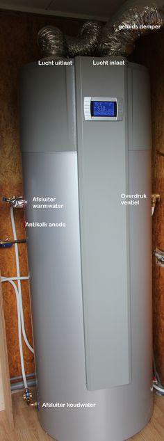 Warmtepomp boiler Solar Energy, Solar Power, Rocket Mass Heater, Villa, Heat Pump, Wind Power, Boiler, Sustainable Living, Smart Home