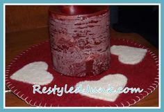Felted Heart Candle Mat-Free Pattern