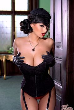 Hot woman with corset