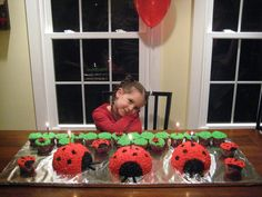 Kinley's Lady Bug party!  Just found this....OMG I've NEVER heard of the name Kinley!