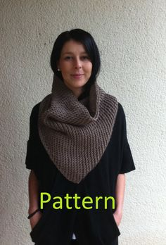 This is a listing for Knitting Pattern for the Triangle scarf or Bandana Cowl / One size/ Unisex/ Adult/ Woman/Man A really fresh dash of colour onto the grim cold days. Skill level: beginner, easy. All patterns written in US Terms. Wool, acrylic, alpaca or any yarn. There is no shipping charge for this item as it is a PDF file and will be sent out within 24 hours of payment. If you dont receive it within 24 hours, please, contact me. Price is for th...