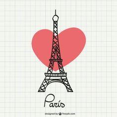 Eiffel Tower drawing with heart Vector Torre Eiffel Vector, Paris Torre Eiffel, Eiffel Tower Drawing, Eiffel Tower Art, Eiffel Tower Tattoo, Springtime In Paris, Paris Wallpaper, I Love Paris, Paris Theme