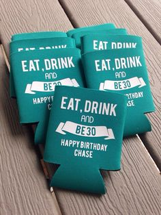 Custom Birthday Koozie, 30th Birthday Koozie, 40th Birthday, 50th Birthday Koozie, Custom Coozie, Custom Koozie, Birthday Coozie by NTgoodthings on Etsy https://www.etsy.com/listing/203378623/custom-birthday-koozie-30th-birthday