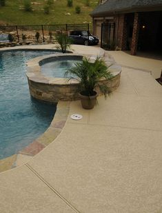 Get Concrete Pool Deck Designs & Ideas from Decorative Concrete Resurfacing We install concrete refinish/ overlays perfect for pool decks! Deck Colors, Pool Colors, Painted Pool Deck, Kool Deck, Deck Refinishing, Concrete Resurfacing, Pool Remodel, Pool Coping, Concrete Pool