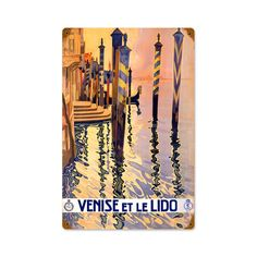 Vintage and Retro Wall Decor - JackandFriends.com - Retro Venice  Metal Sign 12 x 18 Inches, $39.97 (http://www.jackandfriends.com/retro-venice-metal-sign-12-x-18-inches/)