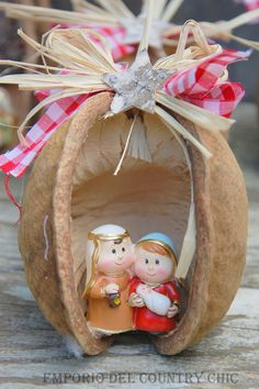 PRESEPE IN BUDDHA NUTS, by PICCOLO ANGOLO COUNTRY, 15,00 € su misshobby.com
