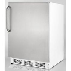"Affordable  Summit AL750BISSTB 24"" Built In Undercounter Refrigerator with Automatic Defrost, Stainless Steel"