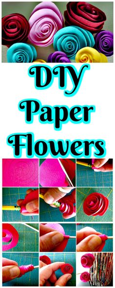 Brilliant Handmade Paper Flowers - 30 DIY Paper Flowers (Step by Step Tutorials / Template) - DIY & Crafts