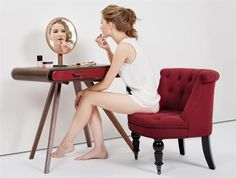 #retro style for a make-up table