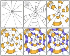 Op Art ideas by Tina Kejlberg. Good use of shading for rounded feel. PLUS More Op Art ideas here. Use translator if needed. Doodle Patterns, Zentangle Patterns, Zentangles, Art Patterns, Henna Patterns, Doodle Art, Tangle Doodle, Op Art Lessons, Art Education Lessons