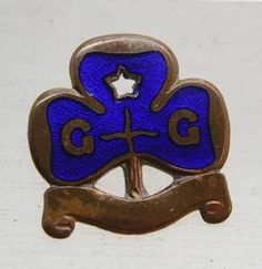 """Vintage Girl Guides Blue Enamel Pin Badge Made by """"Collins"""" London 