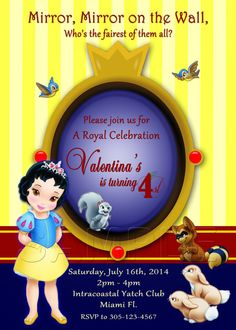 Disney Toddler Princess - Snow White - Personalized Digital Invitation