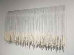 Inch by Inch (to Laura Potter). Slip-cast porcelain, music wire, Du Chau
