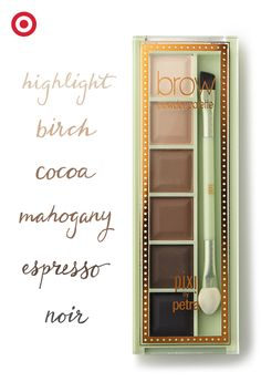 The art of the arch: The Pixi brow palette offers five neutral colors plus a highlighter, so it's easy to find the right hue. Match to your hair color, opt for a shade darker, or mix two colors to create a color of your own. Learn how Petra creates the perfect brow: https://youtu.be/RyKFonyty40