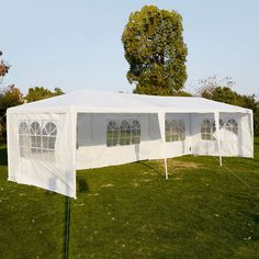 3x6M Outdoor Party Tent Canopy Wedding Pavilion Cater Event Marquee 4 or 6 Walls